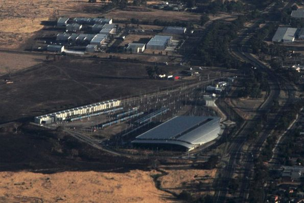 Looking down on Craigieburn Yard from the north