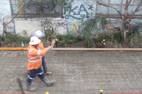 Rebuilding the shared use path that parallels the railway south of Huntingdale station