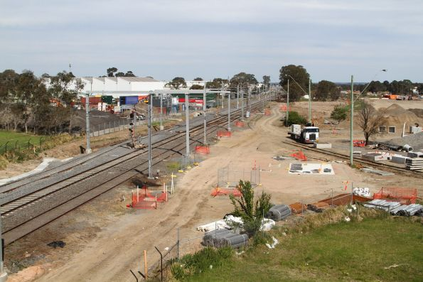 Track duplication along the Cranbourne line at the Dandenong Bypass