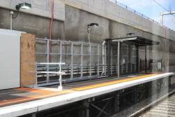 Platform extension works at the down end of Springvale platform 2