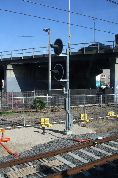 New home signal at the up end of Oakleigh platform 1