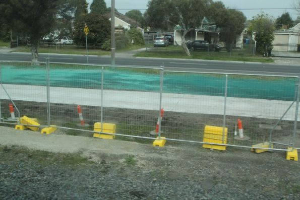 Bike path taking shape beside the railway line at Noble Park
