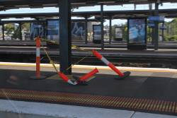 Work on the Dandenong line platforms at Richmond