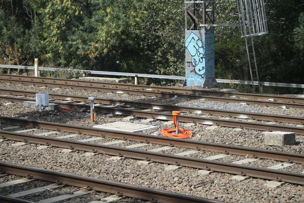New trackside cabling north of South Yarra