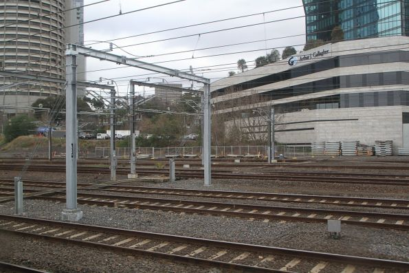 Portal marks the city end of the additional traction feeder cables at Richmond Junction
