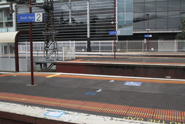Completed platform extension at the north end of South Yarra platform 5