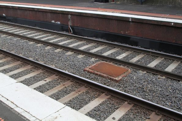 Rebuilt track pair on the Caulfield Local tracks at Armadale station