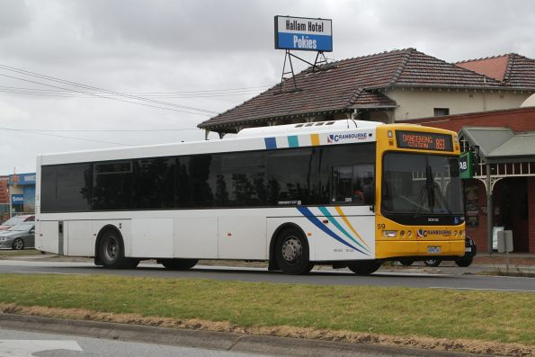 Cranbourne Transit #59 6990AO on a route 893 service in Hallam