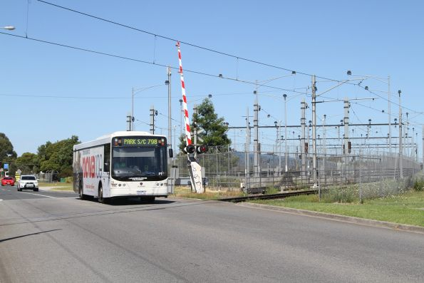 Cranbourne Transit #39 6539AO on a route 798 service approaching Cranbourne station