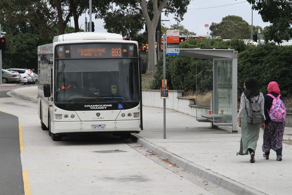 Cranbourne Transit #47 7473AO on route 893 at Dandenong station