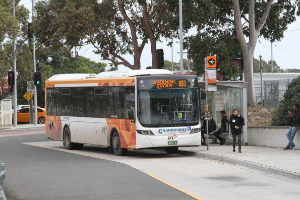 Cranbourne Transit bus #73 BS02OL on route 893 at Dandenong station