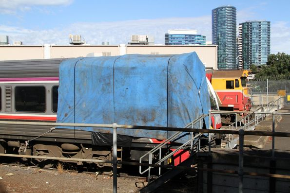 Sprinter 7012 still covered with a tarpaulin at the Dudley Street sidings