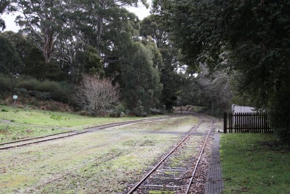 Daylesford end of the station at Bullarto