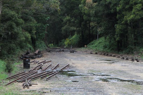 Down end track removed at Bullarto, so that a run around loop can be constructed