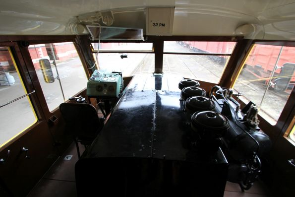 Cab and engine room of RM32