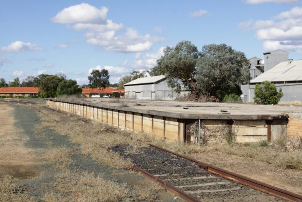 Goods platform at Deniliquin, the end of the line soon after