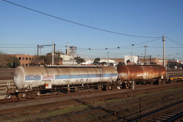 Derailed oil tanker at Tottenham Yard