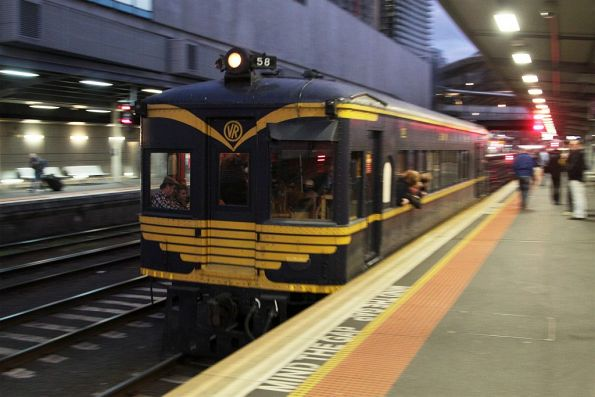 RM58 departs Southern Cross for home at Newport
