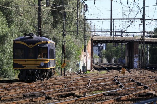 Passing through the crossovers at North Melbourne Junction