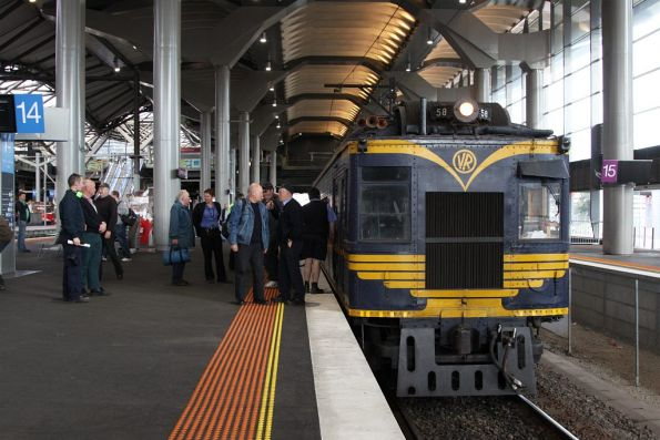 End of the trip at Southern Cross platform 14