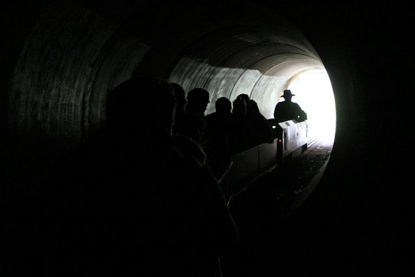 Emerging from the Rocla tunnel