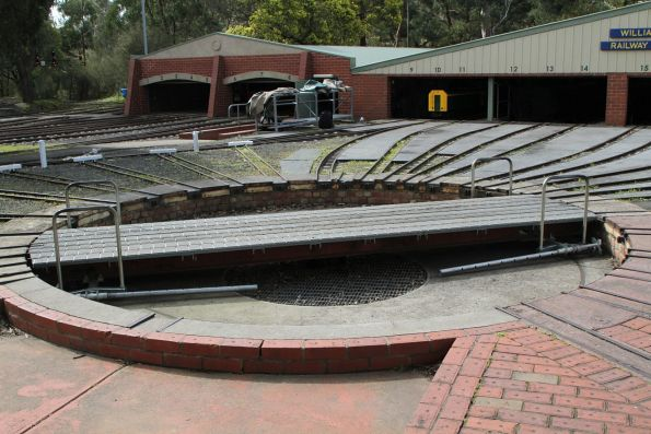 Turntable outside the locomotive shed