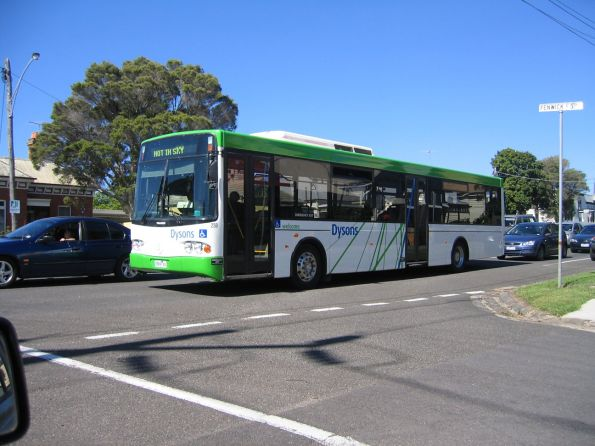 Dyson's bus #259 rego 0909AO out of service on McKillop Street, Geelong