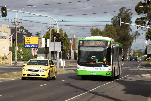 Dysons bus #436 0957AO on a route 504 service west along Brunswick Road
