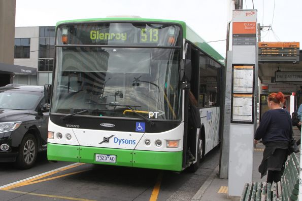 Dysons bus 7323AO on route 513 at Coburg station