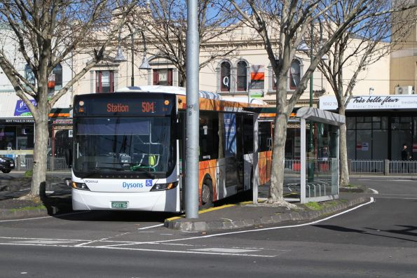 Dysons bus BS01QZ on route 504 at Moonee Ponds Junction