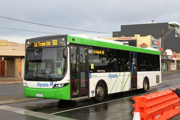 Dysons bus #867 7122AO on route 561 at Reservoir station
