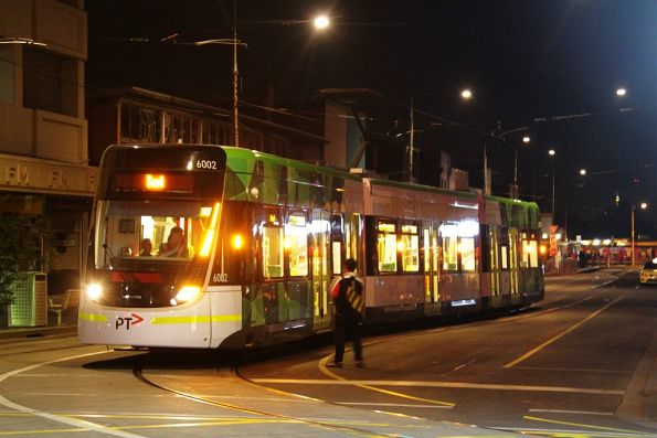 Confused passenger tries to board the test tram at Leeds and Hopkins Streets