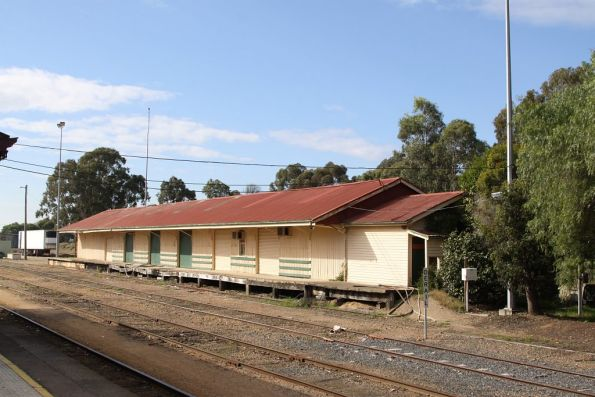 Goods shed opposite the platform