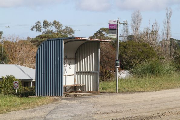 Train replacement bus stop at Bunyip station