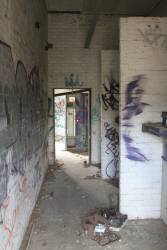 Inside the disused substation at Longwarry