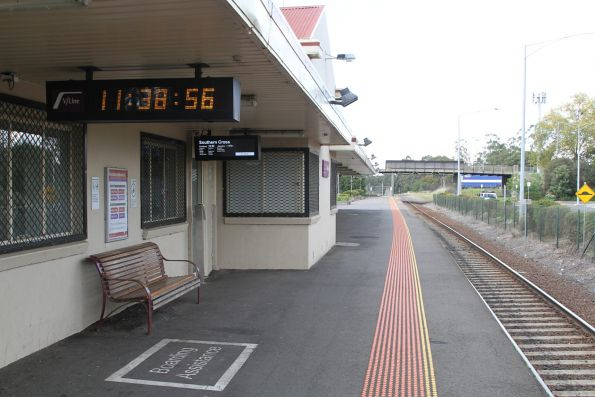 Platform 1 at Drouin station