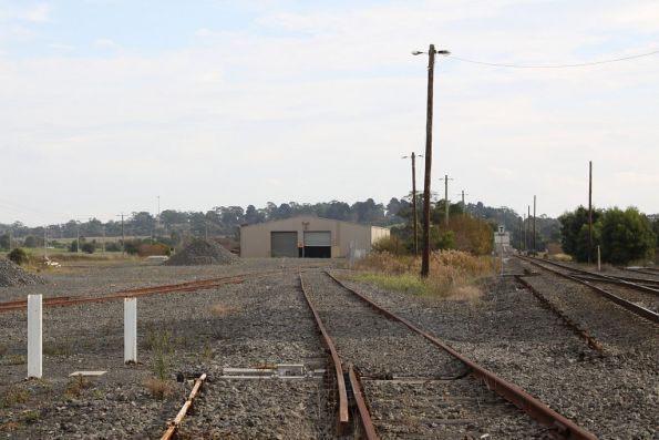 Sidings for the Gippsland Intermodal Freight Terminal, the main line to the right