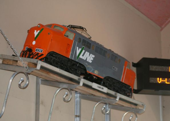 Model of electric locomotive L1150 at Traralgon Station
