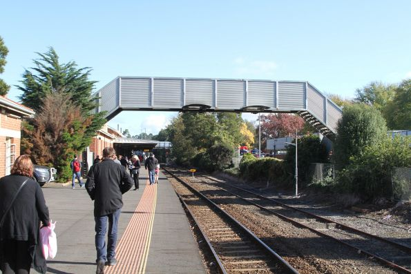 Disused footbridge at the north-east end of the platform at Warragul