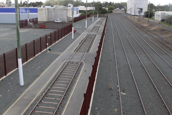 Stabling siding for VLocity railcars at Echuca