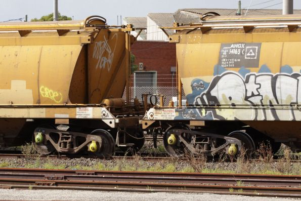 One of many wagon bogies off the rails