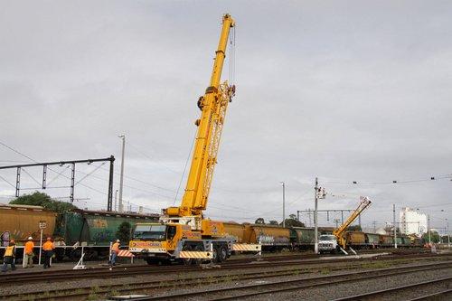 Crane extended