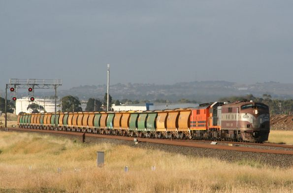 GM36, T386 and GM43 on the up outside Corio