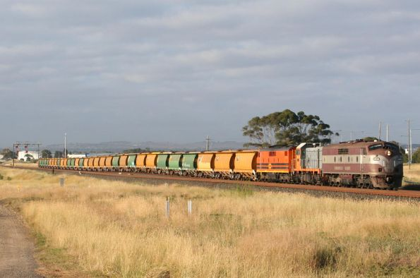 The consist made up of 31 AHGX wagons