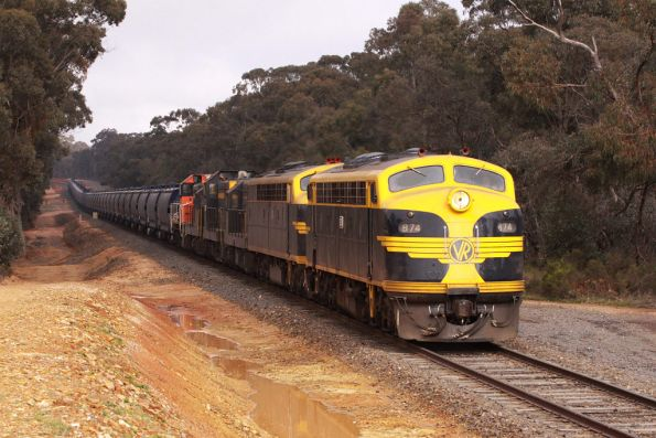 About 10 hours late: B74, S303, T320, T357, T341, Y145 lead the down train into Maryborough bound for Birchip