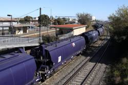 WGSY grain wagons snaking through the curves