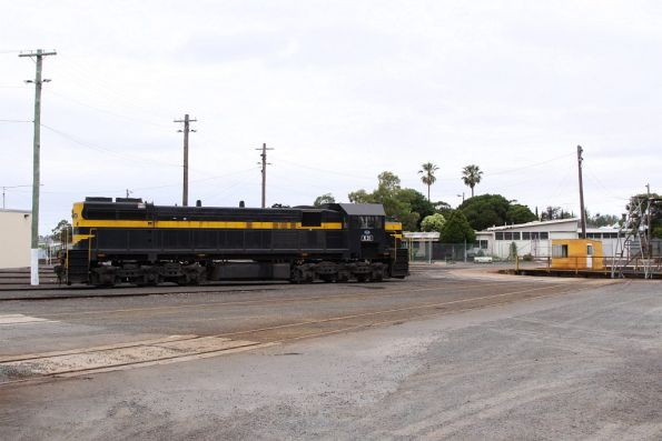 X31 stabled beside the turntable at Geelong Loco