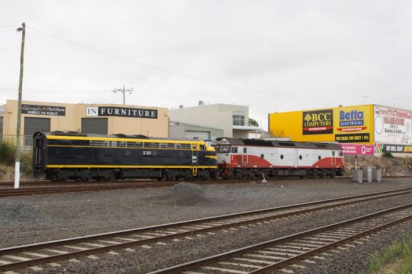 S303 and G521 depart Geelong Loco for North Geelong C