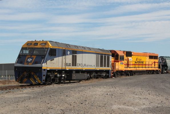 EL60 and L277 unloading their train at the Geelong Grain Loop