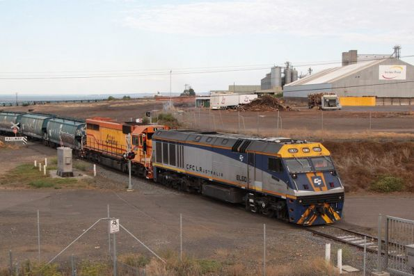 EL60 and L277 depart the Geelong Grain Loop